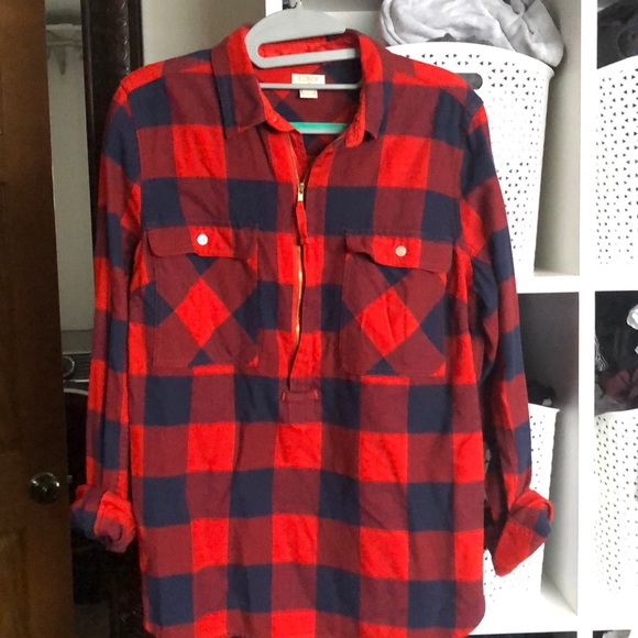 JCrew flannel size small. New condition!